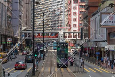 北角の街並みと香港トラム その①