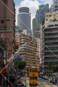 湾仔(灣仔)の街並みと香港トラム その①
