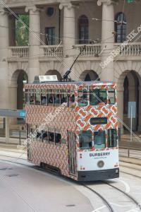 セントラル(中環)を走行する香港トラム その③