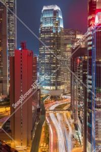 セントラル(中環) 高層ビルの夜景 その⑦