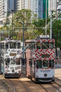 鰂魚涌を走行する香港トラム その④