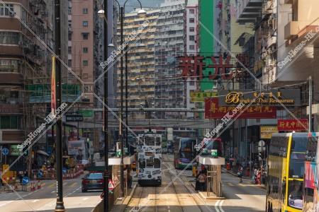北角の街並みと香港トラム その③