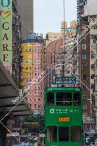 湾仔(灣仔) 街並みの風景と香港トラム その④
