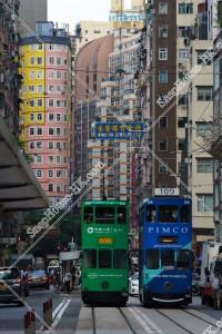 湾仔(灣仔) 街並みの風景と香港トラム その⑤