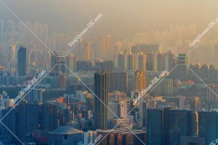 九龍の早朝の風景
