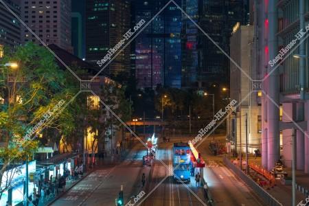 香港トラムとセントラル(中環)の夜景 その②