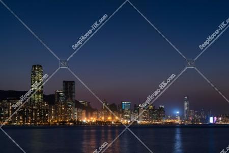 香港島と九龍の夜景 その③