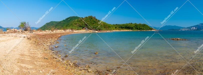 馬屎洲 海岸のパノラマ風景