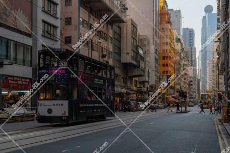 西営盤 街並みと香港トラム