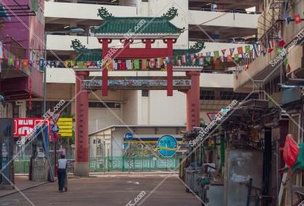 佐敦 朝の廟街の門 その⑥