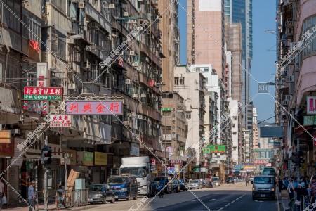 旺角 上海街の街並みの風景 その①