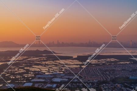 元朗の郊外と深センの夕方の風景 その④