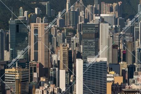 銅鑼灣の高層ビル群