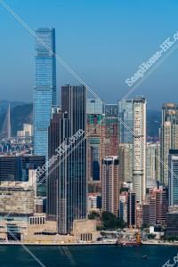 九龍半島の高層ビル群の風景 その②