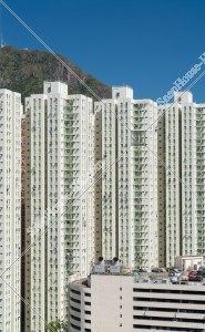 九龍灣 麗晶花園のマンション群