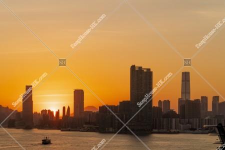 九龍半島の日没の風景 その①