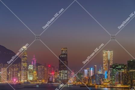 セントラル(中環)と尖沙咀の夜景