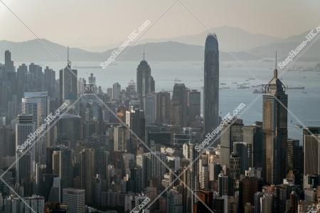 香港島 セントラル(中環)~湾仔(灣仔)のスカイラインビュー