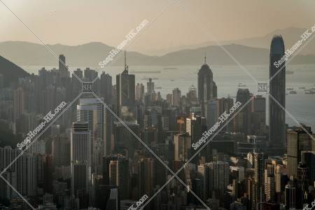香港島 セントラル(中環)~湾仔(灣仔)のスカイラインビュー その③
