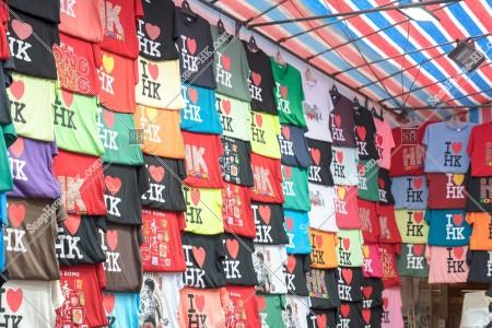 旺角 女人街(通菜街) と「I Love HK」のTシャツ その②