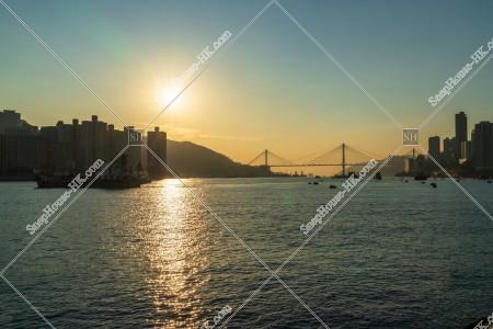 荃灣から見る東灣の夕景 その⑥