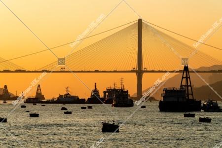 汀九橋と東灣の夕景 その⑨