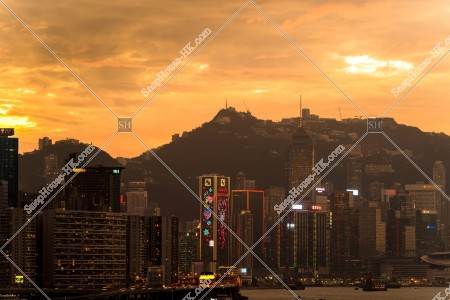夕方の香港島の風景 その④