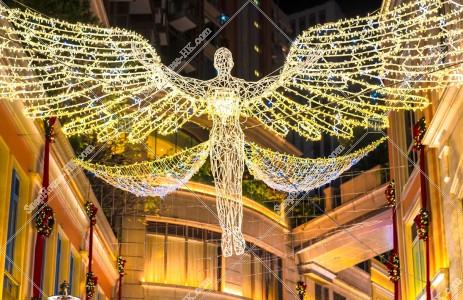 灣仔 利東街のクリスマスライトアップ その⑦