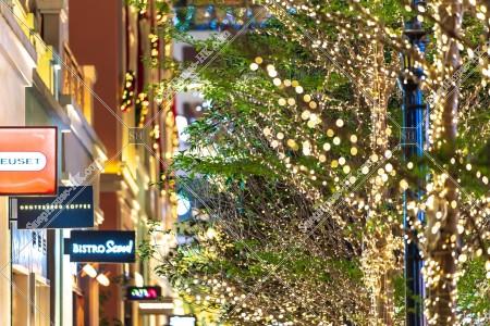 灣仔 利東街のクリスマスライトアップ その⑫