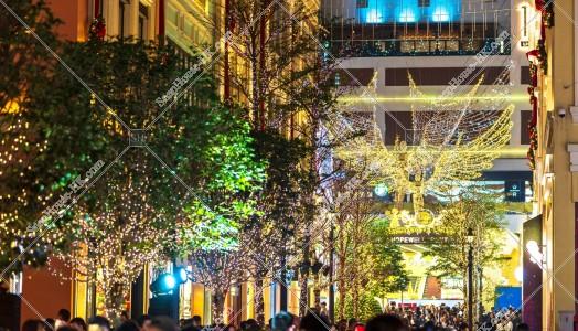 灣仔 利東街のクリスマスライトアップ その⑭