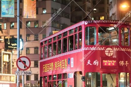 灣仔 夜の香港トラム その①