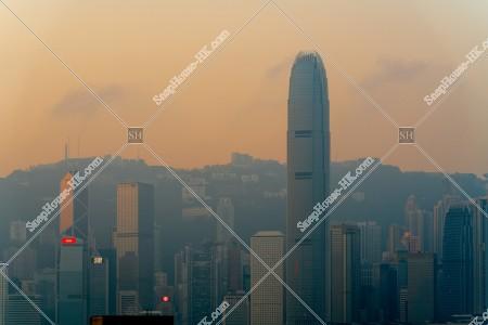 朝のセントラル(中環)の高層ビル群 その②