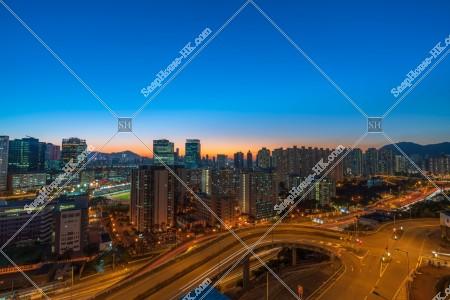 夕方の九龍灣の街並みの風景 その⑥
