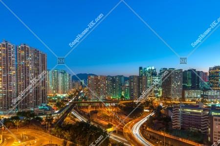 夕方の九龍灣の街並みの風景 その⑧