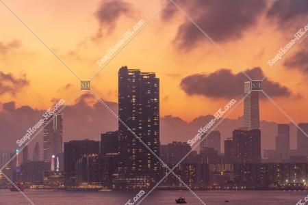夕方の九龍の街並みの風景 その⑫