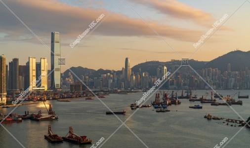 夕方の香港の都市風景 その⑧