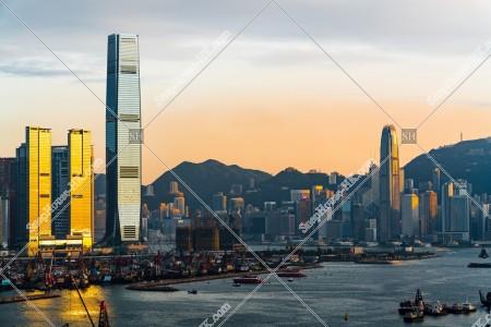 夕方の香港の都市風景 その⑨