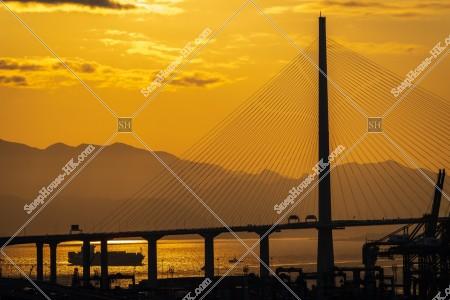 夕方の昂船洲大橋(ストーンカッターズ橋) その⑤
