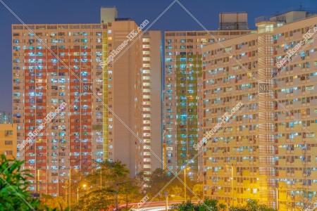 彩虹 夜の公共住宅「彩虹邨」と「坪石邨」 その①