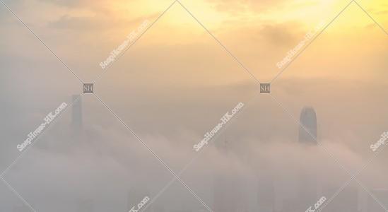 ヴィクトリア・ピークから見る香港の都市と雲海 その④