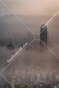 ヴィクトリア・ピークから見る香港の都市と雲海 その⑦