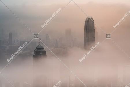 ヴィクトリア・ピークから見る香港の都市と雲海 その⑩