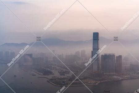 ヴィクトリア・ピークから見る西九龍と雲海 その③