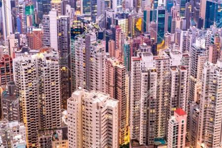 上環の高層ビル群の風景 その⑤