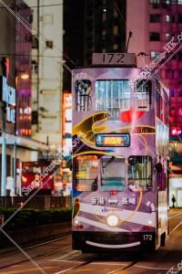 銅鑼灣 夜の香港トラム その①