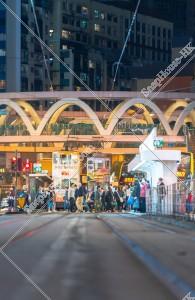 銅鑼灣 歩行者と香港トラム その①