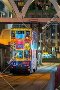 銅鑼灣 夜の香港トラム その③