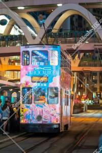 銅鑼灣 夜の香港トラム その④