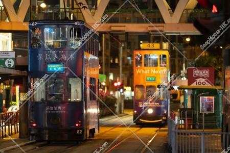 銅鑼灣 夜の香港トラム その⑥