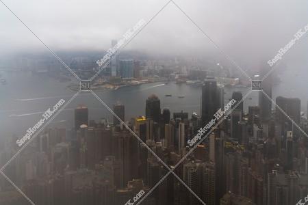 曇天時のヴィクトリア・ピークから見る香港の風景 その⑤